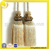 For Curtain Mosquito net Tent Light Brown Polyester Double Tieback Tassel