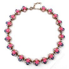2015 Yiwu bulk fancy jewelry wholesale big female flowers gems ruby necklace costume jewelry SN287