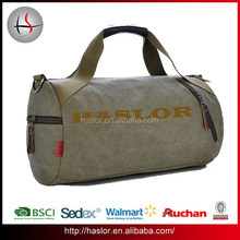 Leisure Large Capacity Travelling Canvas Gym Bag With Shoulder Straps