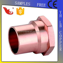 LB-Guten Top wholesale sae standard brass nut brass compression fitting for copper pipe equal brass union tee