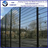 powder painting 358 welded mesh fence, 358 mesh, spraying plastics anti-climb fence
