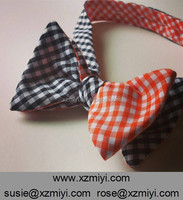 Black And Orange Checked Reversible Gingham Bow Tie Checked Bow Tie Double Side Bow Tie For Men