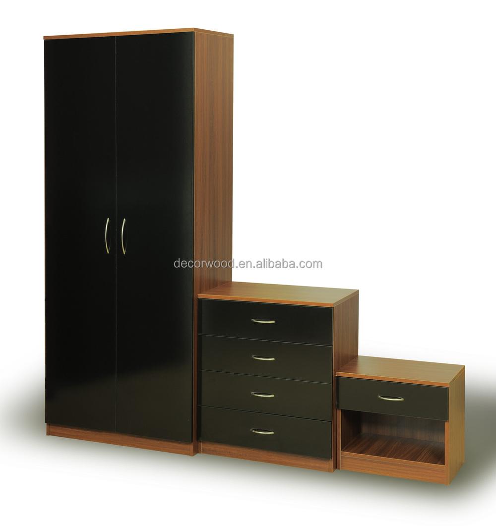 e nero grano di legno mobili camera da letto armadio camera da ...