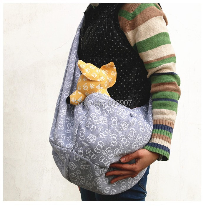Pet sling dog cat puppy small animal carrier candy pattern 100 cotton pet shoulder bag carriers - Pattern for dog carrier sling ...