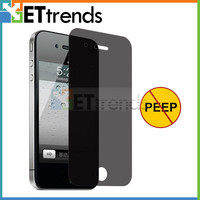 Fashion anti-spy privacy screen protector with design for iPhone 4