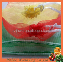 pe pumping needle mesh net bags for vegetable and fruit