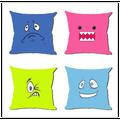 0513L-06 estilo llano y 100% poliéster cojín precio barato personalizar funda de almohada