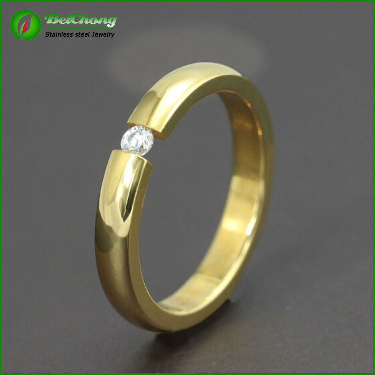 fashionable jewelry wholesale gold wedding rings for
