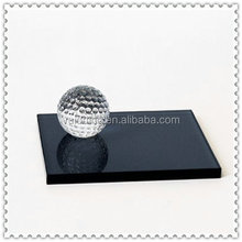 Golf Crystal Table Decoration With Black Base for Company Prize