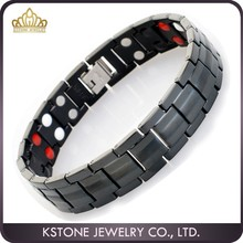 KSTONE Hot Sale Energy Bracelet Bio Magnetic Men's Pure Titanium Bracelet