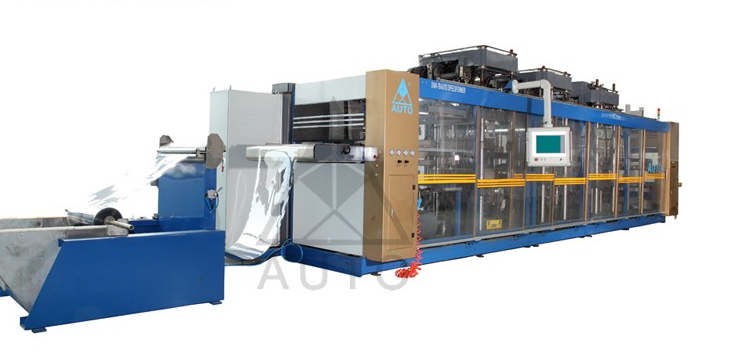 Customized automatic cup lid plastic pp vacuum forming machine