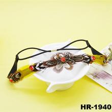 Nepal bohemia retro satin feather hair accessories sparkling red rhinestone hairband feather headband