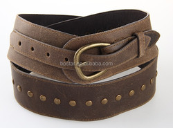 High Quality Fashion Lady Genuine Leather Belt w/Studs,Rivets Women Design Wide Waist Strap/Cintos de Couro para Mulher