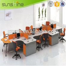 Alibaba Best Selling Wooden Frame Staff Partition Dividers Melamine Board Computer Workstation Design Modern Office Cubicles