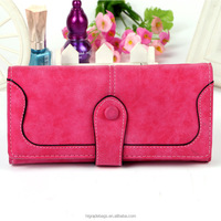 Fashion colorful funky leather women wallets
