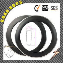 SoarRocs 700C 90mm alloy clicnher carbon wheels clincher 100% full carbon aluminum wheelset alloy brake surface