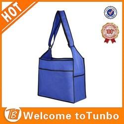 Blue shopping bag new design custom shoulder bag non woven fabric bag