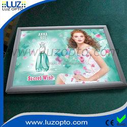 led aluminium frame light box,snap frame open clip frames,snap open light box signs