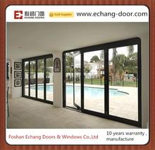 German brand hardware high quality bi folding door /Double glazing aluminium bifold door