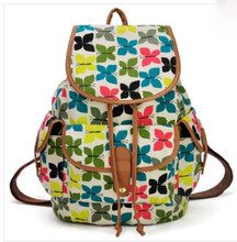 Hot sale Printed College New Fashion Girls' School Bag Canvas Backpack