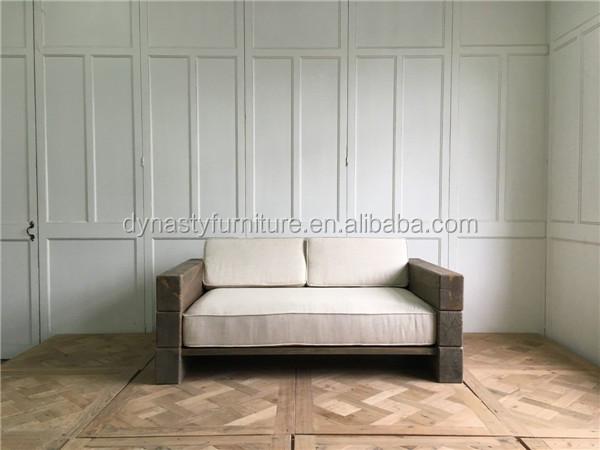 Madera recuperada muebles de jardín al aire libre sofá para al por ...