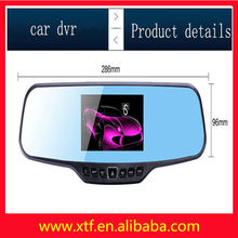 Support WIFI accelerometer parking monitoring double lens security camera system automobile black box