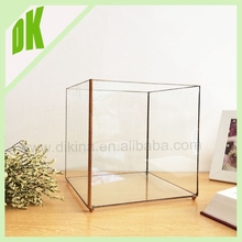 Large Storage Handcrafted Harves ** GLASS FOOD STORAGE CONTAINERS WITH LID ** glass potato stackable storage bin