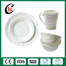 Wholesale cheap white ceramic dinnerware set fine royal bone china