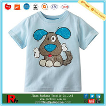 OEM/ODM breathable cotton round neck printed children t shirt