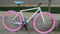 700C FIXED GEAR BICYCLE glow in the dark bicycle