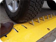 yellow steel barrier spike barriers one way metal speed hump tire killer