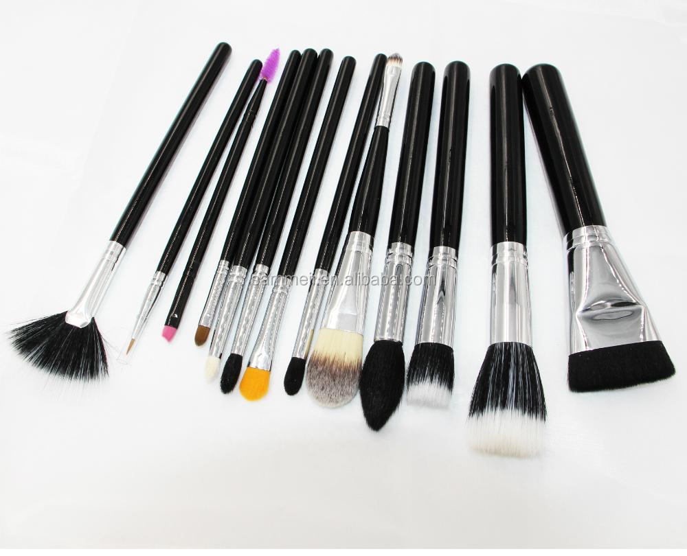 bristle set 13pcs natural brush hair  quality makeup makeup set natural black high brush