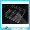 square 6 dividers plastic tray with cup holder manufacturing plexiglass storage tray clear acrylic condiments holder tray ODM