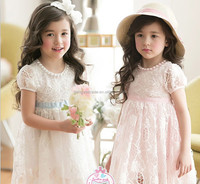 Wholesale Summer Ladies Frocks Designs Girls Dresses Cotton Pear Lace Flower Dress Girls Party Dresses