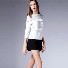 2015 European tassels splicing hollow out snow spins unlined upper garment fashion drape tops