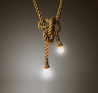 Industrial Classical Hemp rope Pendant Light For Coffee Shop