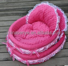 Comfortable pet dog/cat beds and sofa with bowknot