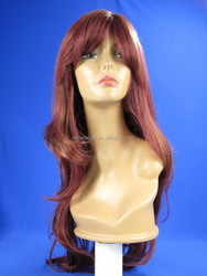 Soft Degree Hair sexy fashion Long curly wave lady's synthetic hair lace wig