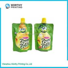 Juice Drink Spout Pouch Bag For Liquid
