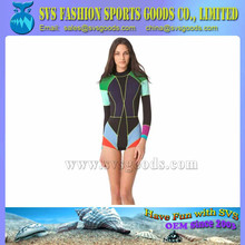 ladies neoprene surf wetsuit with long sleeve and short pants