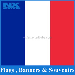 Accept custom-made size polyester French flag flying blue flag white and red
