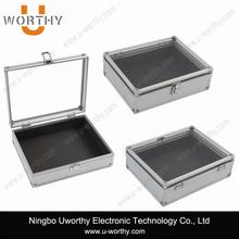 Aluminum Storage Travel Case Tool Box with Transparent Lid