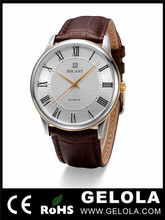 Genuine leather band 5 atm waterproof quartz goldlis watch japan movt quartz watch stainless steel back , all type of wrist watc