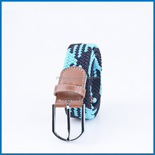 Unisex Men Stretch Braided Elastic Woven Leather Buckle Belt RD-B28