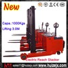Standing Operated Battery Electric Reach Stacker Fork Lifter Truck