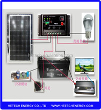 Easy installation off grid 150W home solar system india