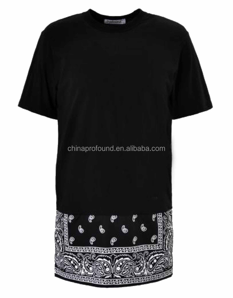 Hiphop Design Mens Extra Long T Shirt With Side Zip View