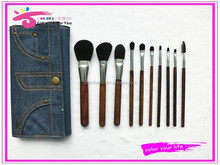 beauty needs black synthetic makeup brush set 10pcs cosmetic brushes with bag