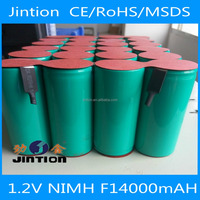 Jintion standard nimh 1.2v F14000mah rechargeable battery