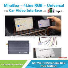 Hotspot Auto switch Wireless mirrorlink car av box touch screen car dvd player